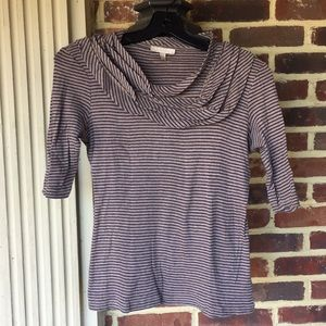 Anthropologie brown/navy t-shirt- Mint Condition